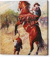 Oops          Buckaroo Western Oil Painting Canvas Print