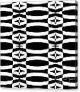 Op Art Geometric Black White Pattern Abstract No.290. Canvas Print