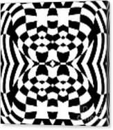 Op Art Geometric Pattern Black White Print No.230. Canvas Print