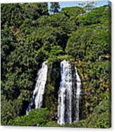 Opaekaa Falls In Kauai Canvas Print