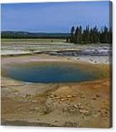 Opal Pool Panorama Yellowstone Canvas Print