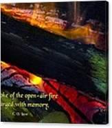 Open Air Fires Canvas Print
