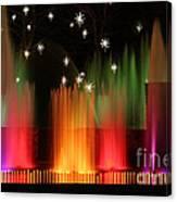 Open Air Theatre Rainbow Fountain Canvas Print