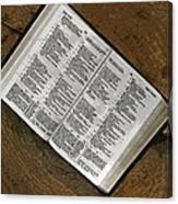 Open Bible Canvas Print