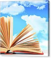 Open Book Against A Blue Sky Canvas Print
