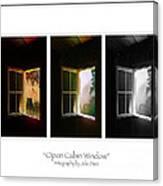 Open Cabin Window Trio Canvas Print