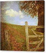 Open Country Gate Canvas Print
