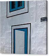 Open Door On Avenida Reboucas Canvas Print