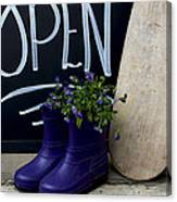 Open For Business Canvas Print