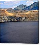 Open Pit Copper Mine Canvas Print