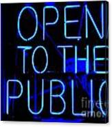 Open To The Public Canvas Print