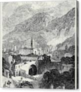 Opening Of The Mont Cenis Tunnel The Town Of Susa 1871 Canvas Print