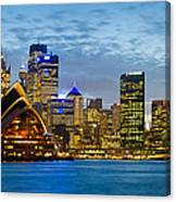 Opera House And Buildings Lit Canvas Print