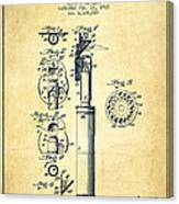 Ophthalmoscope Patent From 1915 - Vintage Canvas Print