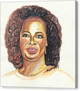 Oprah Winfrey Canvas Print