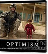 Optimism Inspirational Quote Canvas Print
