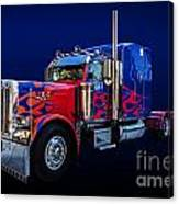 Optimus Prime Blue Canvas Print