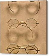 Optometrist - Simple Gold Frames Canvas Print