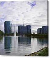 Oracle Buildings In Redwood City Ca Canvas Print