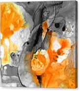 Orange Abstract Art - Iced Tangerine - By Sharon Cummings Canvas Print