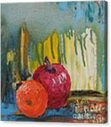 Orange and Apple - SOLD Canvas Print