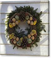 Orange And Artichoke Wreath Canvas Print