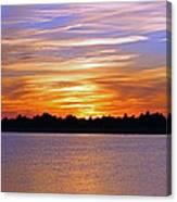 Orange And Blue Sunset Canvas Print