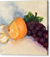 Orange And Grapes Canvas Print