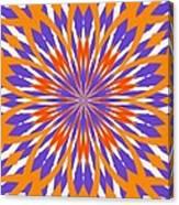 Orange And Purple Kaleidoscope Canvas Print