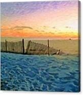 Orange Beach Sunset - The Waning Of The Day Canvas Print