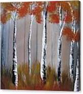 Orange Birch One Piece Canvas Print