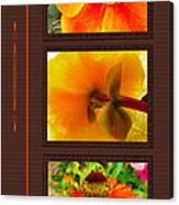 Orange Bloom Motif R Canvas Print