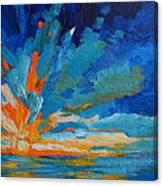 Orange Blue Sunset Landscape Canvas Print