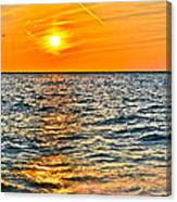 Orange Burn Canvas Print