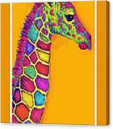 Orange Carosel Giraffe Canvas Print