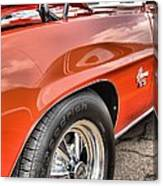 Orange Chevelle Ss 396 Canvas Print