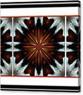 Orange Chocolate Trio - Kaleidoscope - Triptych Canvas Print