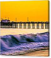 Orange County Panoramic Sunset Picture Canvas Print