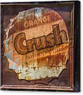 Orange Crush Sign Canvas Print