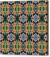 Orange Day Lily Design Canvas Print
