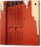 Orange Doors Canvas Print