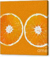 Orange Eyes Canvas Print
