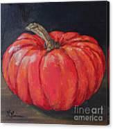 Orange Fairytale Pumpkin Canvas Print
