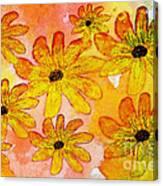 Orange Flowers Galore Digital Art Canvas Print