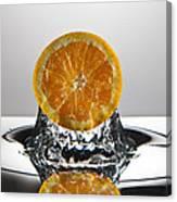 Orange Freshsplash Canvas Print
