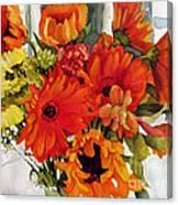 Orange Gerberas Canvas Print