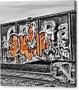 Orange Graffiti Canvas Print