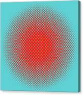 Optical Illusion - Orange On Aqua Canvas Print