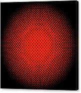 Optical Illusion - Orange On Black Canvas Print