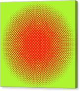 Optical Illusion - Orange On Lime Canvas Print